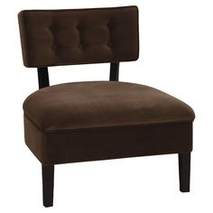Office Star Ave Six Curves Velvet Button Chair, Chocolate Brown Office Guest Chairs, Office Seating, Tufted Accent Chair, Accent Chairs, Office Star, Accent Furniture, Side Chairs, Living Spaces, Living Room