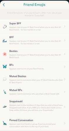 Snapchat Streak Emojis, Noms Snapchat, Snapchat Best Friends, Snapchat Friend Emojis, Snapchat Captions, Snap Snapchat, Snapchat Stickers, Instagram And Snapchat, Snapchat Codes