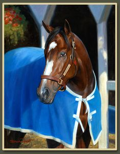 Rachel Alexandra - horse painting by Shawn Faust