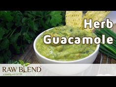 How to Make Herb Guacamole in a Vitamix blender by Raw Blend - YouTube