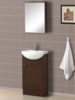 Cherry Bathroom Vanities Provide a Rich and Warm Bathroom Tone Warm Bathroom, Condo Bathroom, Downstairs Bathroom, Modern Bathroom, Small Bathroom, Porcelain Sink, White Porcelain, Modern Baths, Modern Vanity