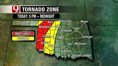 Possibility Of Severe Weather Today - News9.com - Oklahoma City, OK - News, Weather, Video and Sports |