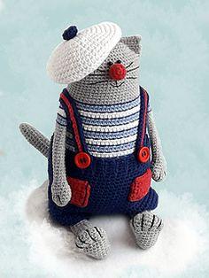 Amigurumi cat pattern Crochet toy kitty making Julius the Happy Chef Cat Gato Crochet, Crochet Cat Toys, Crochet Patterns Amigurumi, Crochet Animals, Magic Ring Crochet, Cat Pattern, Free Pattern, Stuffed Toys Patterns, Single Crochet