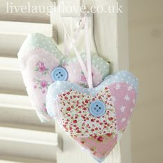 Pretty patchwork hearts