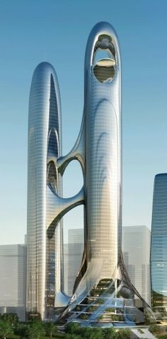 Guiyang Financial Center, Guiyang, China 76 Stockwerke, Höhe 400 m - Baustil Unusual Buildings, Interesting Buildings, Amazing Buildings, Modern Buildings, Office Buildings, Architecture Antique, Futuristic Architecture, Beautiful Architecture, Art And Architecture