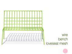 DOT's Wire Bench Loveseat Mesh