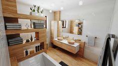 3D vizualizácia modernej kúpeľne Bathroom, Washroom, Full Bath, Bath, Bathrooms