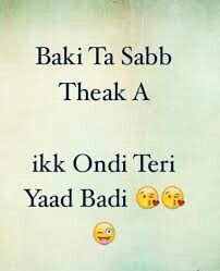 bhut yaad aatii h Bad Words Quotes, Crazy Quotes, Sad Quotes, Simple Quotes, Cute Love Quotes, Romantic Love Quotes, Punjabi Love Quotes, Qoutes About Love, Boyfriend Quotes