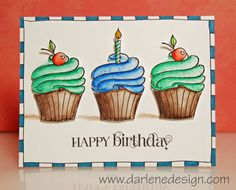Hi All! I thought I would take a holiday break and make a birthday card. All those December babies still need to be recognized:) I used the Art GRIP® Aquarelle Watercolor Pencils on the cupcakes. So easy… just three pencils – blue, green, and brown. Here is a look at...