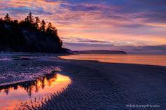 Sunrise on Whidbey Island …