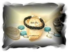Handcrafted men's leather bracelet. www.habierose.com