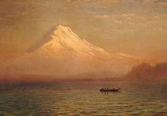 Sunrise on Mount Tacoma (oil on canvas) by Albert Bierstadt (1830-1902)