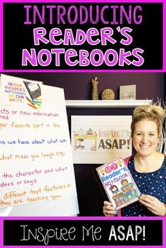Reading Response and Reader's Notebooks - Inspire Me ASAP Readers Notebook, Readers Workshop, Happy Reading, Guided Reading, Close Reading, Reading Activities, Reading Notebooks, What Makes You Laugh, Reading Comprehension Strategies