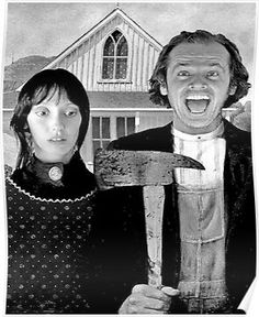Shelly Duvall and Jack Nicholson, American Gothic In & # The Shining & # Style. Horror Filme Shelly Duvall and Jack Nicholson, American Gothic In & # The Shining & # Style Scary Movies, Horror Movies, Good Movies, American Gothic, American Horror, Stanley Kubrick, Film Mythique, Tv Movie, Photo Vintage