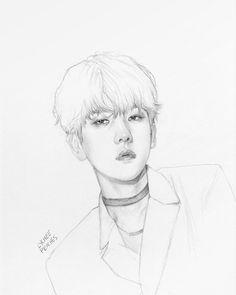 offffffffffffff you are killing me slowly! Kpop Fanart, Baekhyun Fanart, Sehun, K Pop, Kpop Drawings, Art Drawings, Boy Sketch, Realistic Sketch, Exo Fan Art
