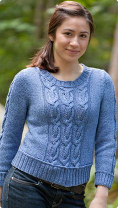 Classic Elite Yarns Avenue Cabled Pullover