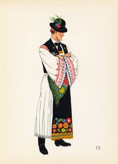 Old attire of Mezokovesd, Hungary.