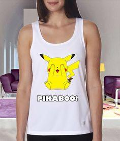 pikaboo clothing tank tanktop custom Women clothing by Gloriia, $20.00