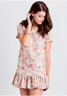 Afternoon Tea Floral Drop Waist Dress | Ruche