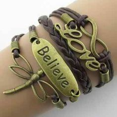 DARK Brown Fashion Leather Double Infinite Bracelets Multi-layer . Starting at $1