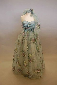 Late 1940's vintage ball gown