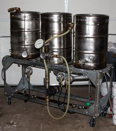 DIY brew stand idea. Could convert to a two tier for gravity, no need for pumps.