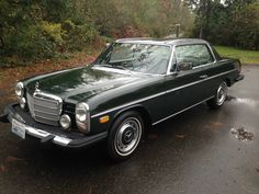 This 1974 Mercedes Benz 280C is a largely original example offered with full service history from new. The seller says he would not hesitate driving the car cross country and it benefits most recetnly from new spark plugs, wires and OEM style Bosch distributor cap and rotor.