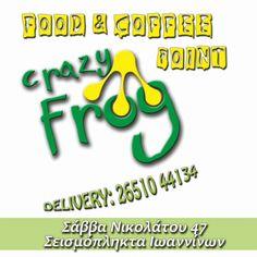 CRAZY FROG-Ελάτε για να δοκιμάσετε μοναδικές γεύσεις σε κρέπες σάντουιτς και ροφήματα