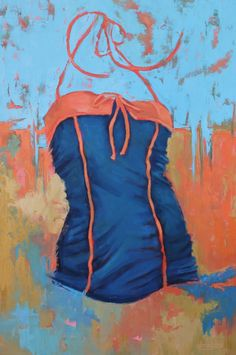 "Sue Dragoo Lembo, ""Crazy for Navy"", 36 x 24, Oil on Canvas, Eisenhauer Gallery of Edgartown, MA"
