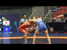 2016 JR World championship FW55kg Olena Kremzer (UKR) vs M  Igarashi (JPN)