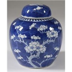 Chinese Blue and White Porcelain Ginger Jar 19 C. Just like the one I inherited from my mother.