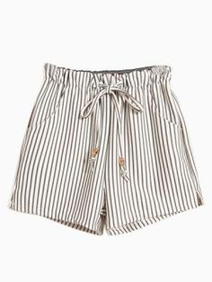 Vertical Striped Shorts With Tie Waist Vertikal gestreifte Shorts mit Bindebund Summer Outfits, Cute Outfits, Summer Shorts, Striped Shorts, Patterned Shorts, Monokini, Dandy, Spring Summer Fashion, Passion For Fashion