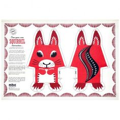 FAO Shop | Squirrel Teatowel (doubles as make it yourself animal cushion) | £11.50 (£2.50 p&p)
