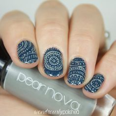 31 Day Challenge, Day 12 - Intricate: Free Hand Henna & Mandala Inspired Nail Art