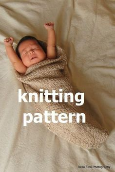 Baby Cocoon and Bowl Knitting Pattern PDF in Plain English -- Two Knitting Patterns in One, Number 101 -- INSTANT DOWNLOAD