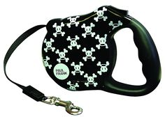 paul frank retractable dog leash 'skulls'
