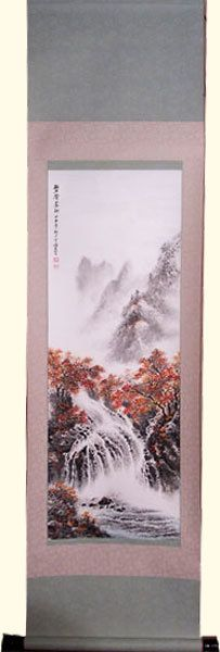 Oriental Furnishings - Oriental Silk Scroll: Multi Color Autumn Trees With Waterfall, $91.00 (https://www.orientalfurnishings.com/oriental-silk-scroll-multi-color-autumn-trees-with-waterfall/)