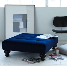 west elm ottoman - furniture without corners on redsoledmomma.com