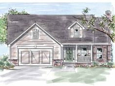 Eplans Country House Plan - Two Bedroom Country - 1440 Square Feet and 2 Bedrooms from Eplans - House Plan Code HWEPL57572