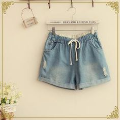 Buy 'Fairyland – Drawcord Denim Shorts' with Free International Shipping at YesStyle.com. Browse and shop for thousands of Asian fashion items from China and more!