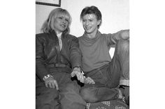 With Debbie Harry of Blondie, November 1980. Bowie was starring in a theatrical production of The Elephant Man at the time.