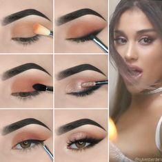 Eye Makeup Tips For Beginners Here we have compiled simple eye makeup tips pictures. They can help you become an eye makeup expert.Here we have compiled simple eye makeup tips pictures. They can help you become an eye makeup expert. Brown Skin Makeup, Makeup For Green Eyes, Blue Eye Makeup, Smokey Eye Makeup, Eyeshadow Makeup, Yellow Eyeshadow, Eyeshadow Palette, Contour Makeup, Foil Eyeshadow
