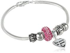 "50% OFF SALE PRICE - $22.83 - CHARMED BEADS Sterling Silver ""Love You to The Moon"" Bead Bracelet"