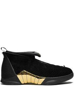 0a90cdfb3565a2 JORDAN JORDAN AIR JORDAN 15 RETRO SNEAKERS - BLACK.  jordan  shoes