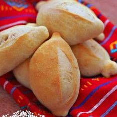 Crusty Rolls - This bread is also known as Pan Francés; the French baguette recipe was transformed in Mexico and became ours as the bolillo.