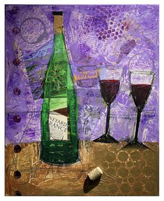 Mixed Media Merlot by Jackie Tuty. Mixed Media