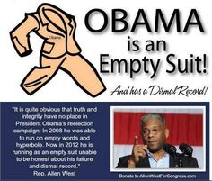Allen West a Real man with Integrity,Honor and LOVE OF COUNTRY!  All things Obama lacks.