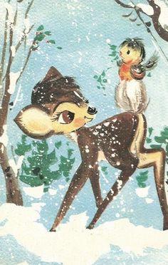 Christmas card vintage