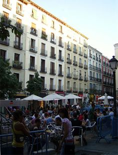 Plaza Chueca, Madrid Spain!!  Many fun times in this place!!