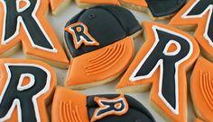 Decorated Sugar Cookies  | Softball Cap and Mascot Initial